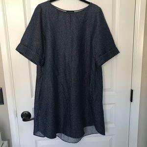 COS Light Denim Speckled Dress Tunic